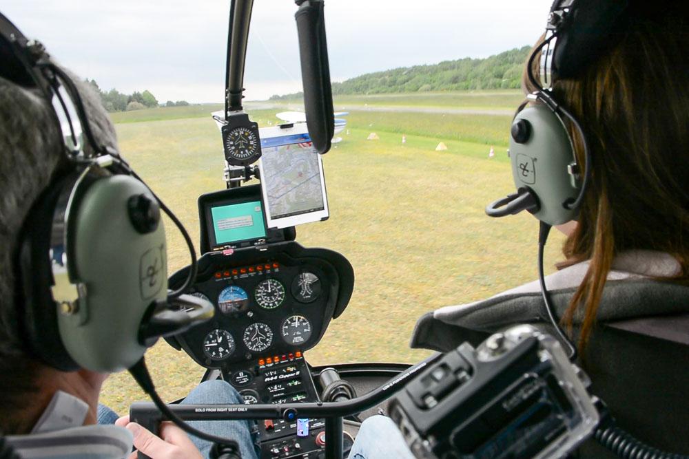 Ausblick aus dem Cockpit